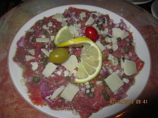 Caruso's Tuscan Cuisine :                   Carpaccio