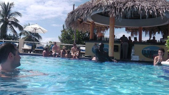 Grand Bahia Principe Cayacoa :                   sunny day at the swim-up bar with Fernando