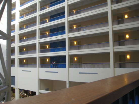 Renaissance Orlando Resort at SeaWorld:                   View from interior balcony