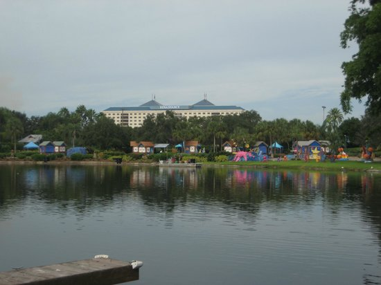 Renaissance Orlando at SeaWorld:                   View towards hotel from Sea World
