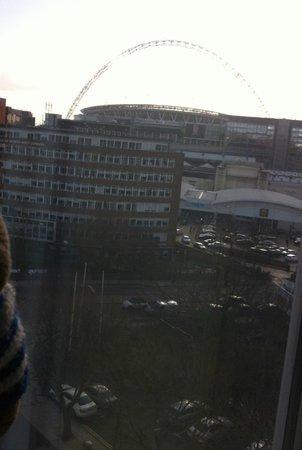 Premier Inn London Wembley Park Hotel:                   Wembley stadium from room
