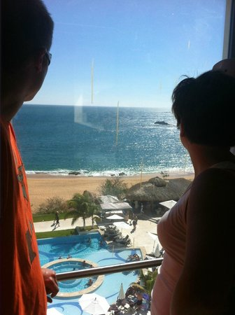 Secrets Huatulco Resort & Spa:                   You have to take an elevator to pool from most flrs. Not an issue. Not a lng w