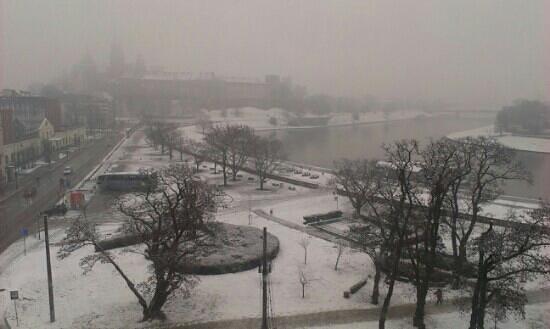 Kossak Hotel:                   heavy snowfall in krakow!!
