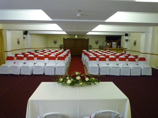 The Whoop Hall:                   Function suite ready for the ceremony