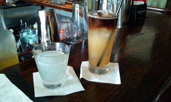Bar Tonique:                   Dark & Stormy (R) and the Aviation (L)- Both were yum-o!