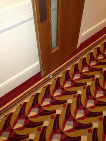 Kensington Close Hotel:                   Fire doors wedged open