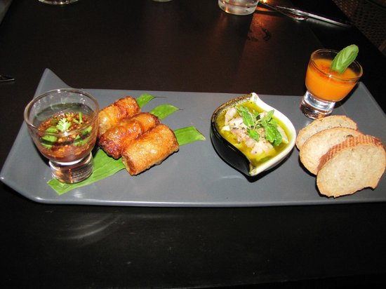 Tangor:                   appetizer tray