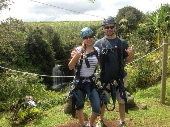Skyline Eco Adventures - Akaka Falls:                   Our Zip experience
