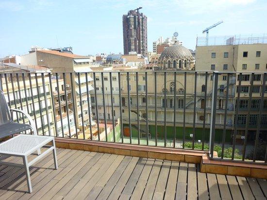 Hotel Acta Atrium Palace:                                     Terrasse vue sur cour chambre double