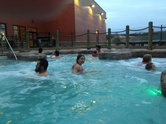 Wilderness at the Smokies Resort:                                     Hot tub