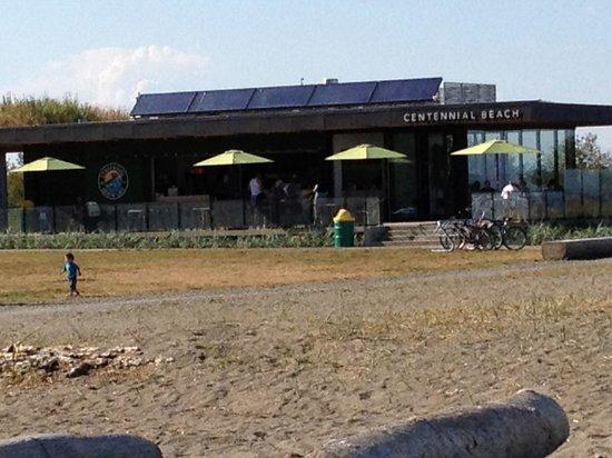 Centennial Beach:                   Centennial Cafe