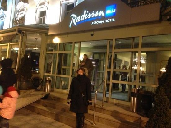 Radisson Blu Royal Astorija Hotel, Vilnius:                   Outside the Astorija