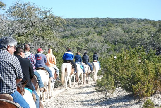 Rancho Cortez Day Trips:                   Riding up in the hills.