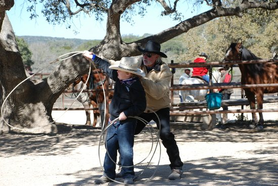 Rancho Cortez Day Trips:                   Getting some roping lessons with Larry.