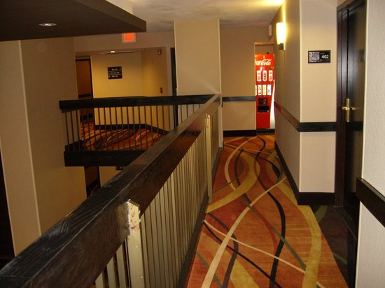 Hampton Inn Dallas/Ft. Worth Airport South:                   Short walk to elevator and machines