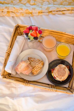 Napa River Inn at the Historic Napa Mill:                   breakfast in bed