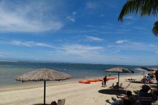 Outrigger Fiji Beach Resort:                   Beach area, kayaks