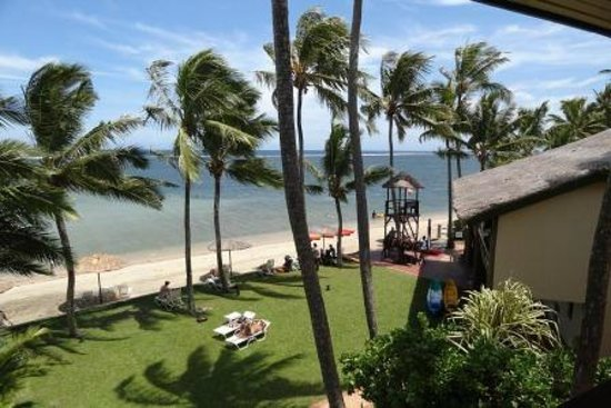 Outrigger Fiji Beach Resort:                   Beach view from room balcony
