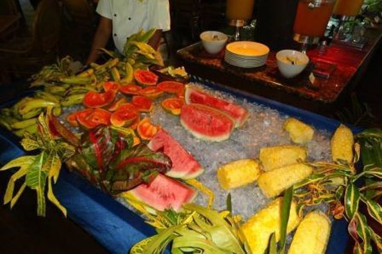 Outrigger Fiji Beach Resort:                   Breakfast buffet fruit