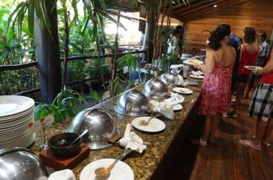 Outrigger Fiji Beach Resort:                   Breakfast buffet hot food line