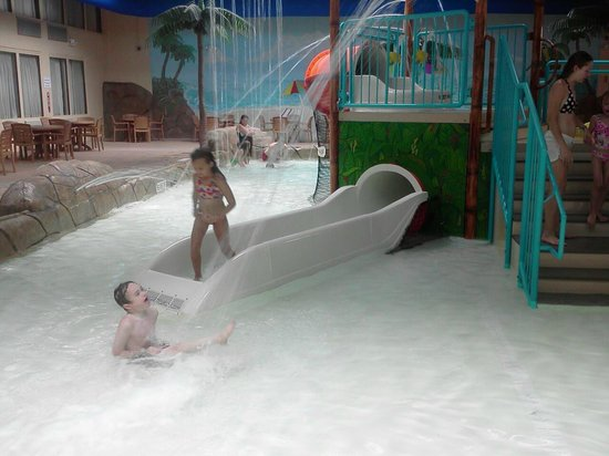 Palm Island Indoor Waterpark:                                                       small water slide