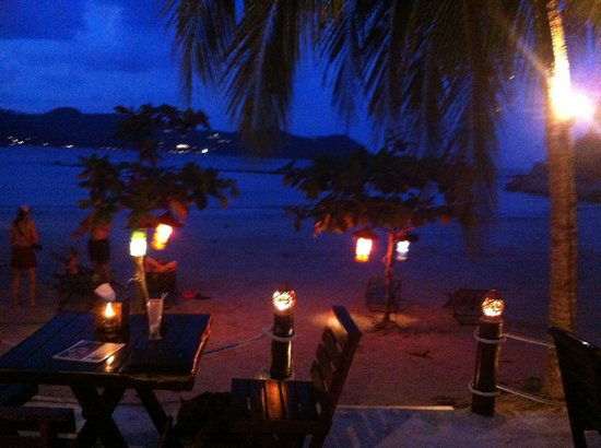 Longtail Beach Resort:                   Longtail at night