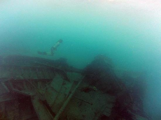 Million Dollar Point:                   snorkel to the boat wreck