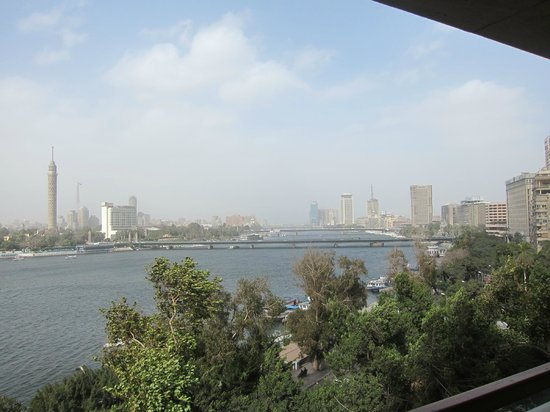 Kempinski Nile Hotel Cairo:                   View from our room on 6th floor