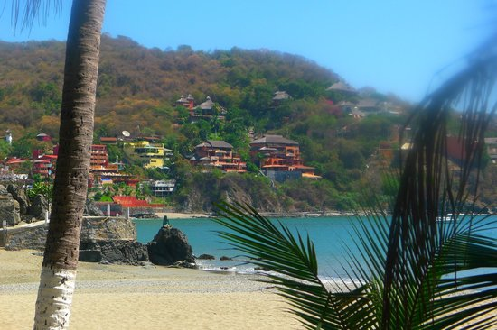 Casa Cuitlateca:                   Taken from Madera beach, the hotel is above the middle condominium
