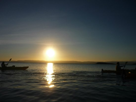 Freycinet Adventures:                   kayaking freycinet peninsula @ dusk  : )