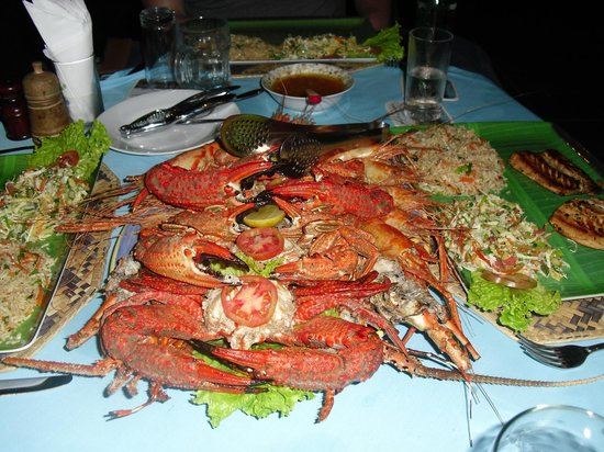 Hotel Blue Sapphire:                   Crab meal for three.
