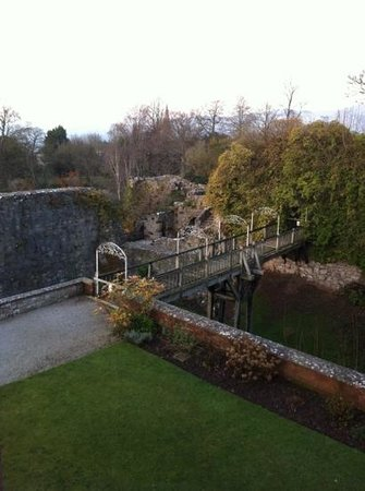Ruthin Castle Hotel:                   view from our room