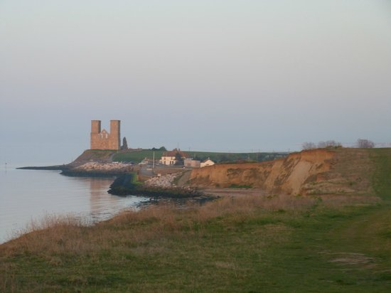 Reculver Country Park:                   View towards Reculver Towers