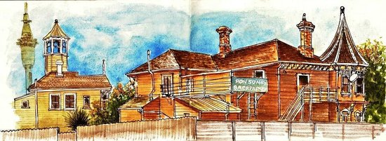 Ponsonby Backpackers: An artists impression of our lovely place