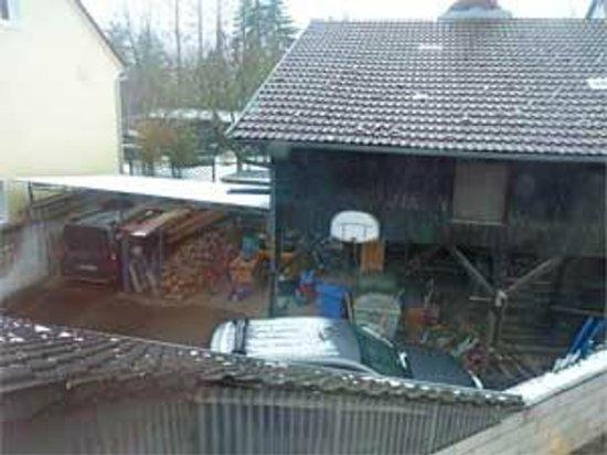 Pension Schlossmichel:                   Blick aus meinem Zimmer