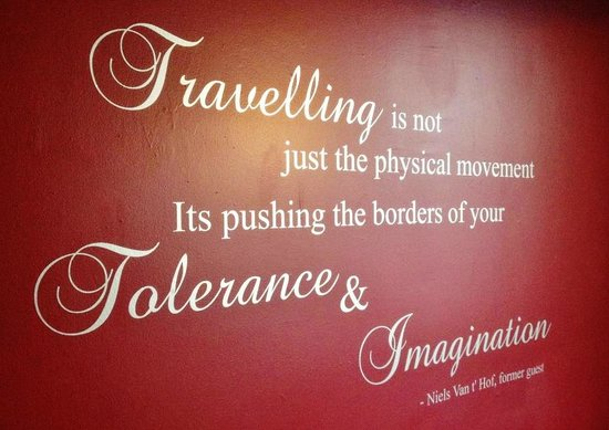 Ponsonby Backpackers : The quote on our living room wall...