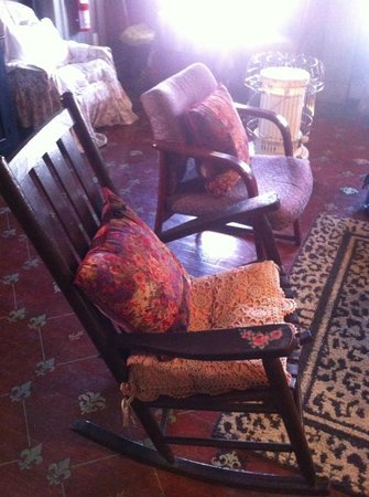 Shanley Hotel:                   rocking chairs in the Great Room