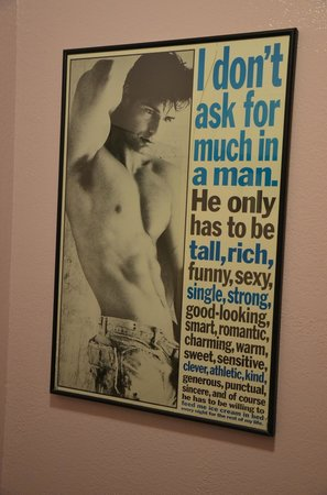 Nick's on the West Side:                   Poster in the ladys bathroom