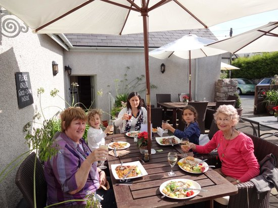 The Queens Head:                                     Family lunch on a sunny day in September 2012