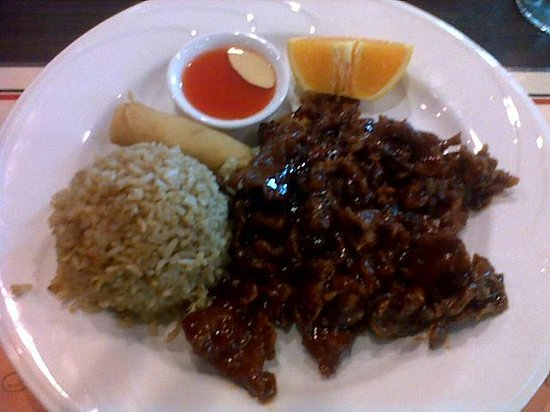 Wu's Fine Chinese Cuisine:                                     Lunch Pungent Beef