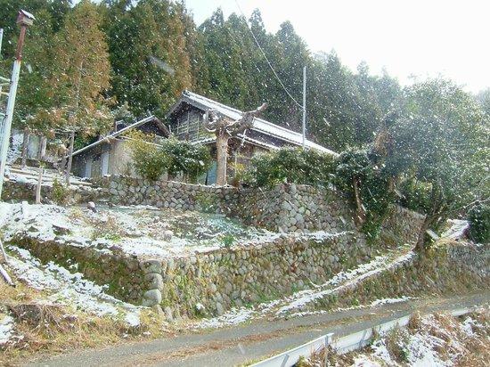 Museum Mori: snow is falling on the museum-mori