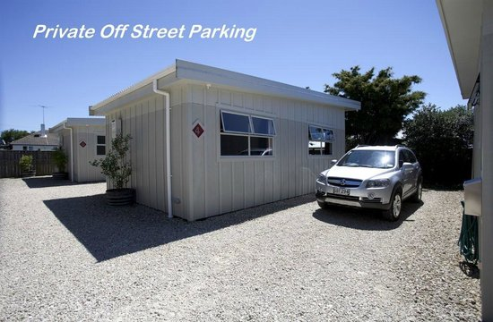 Martinborough Mews: Off street parking