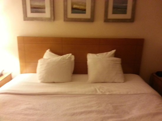 Holiday Inn Manahawkin / Long Beach Island:                   as mentioned in reviews... tiniest pillows ever