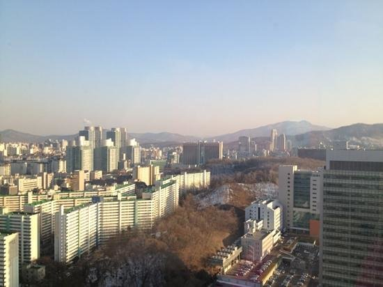 JW Marriott Hotel Seoul:                   view from 34th floor
