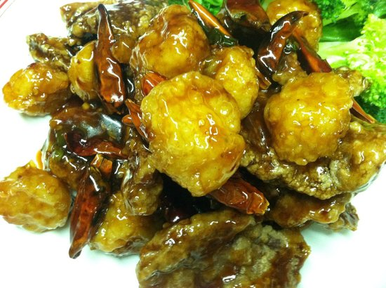 Hunan Chinese Restaurant:                   Hunan Beef and Scallops