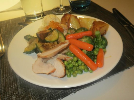 Novotel York Centre:                   buffet dinner