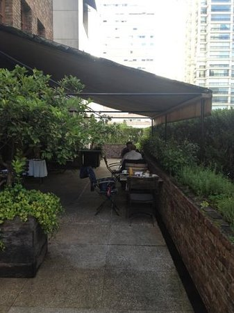 Hotel Fasano São Paulo:                   terrasse du petit déjeuner