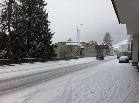Hilton Garden Inn Davos:                   Congress center just in front