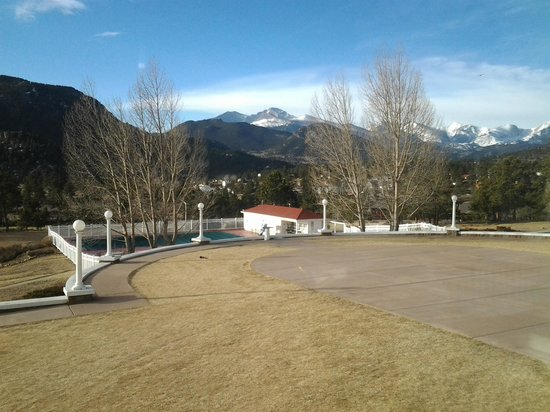 Stanley Hotel:                   The view from the Music Room window