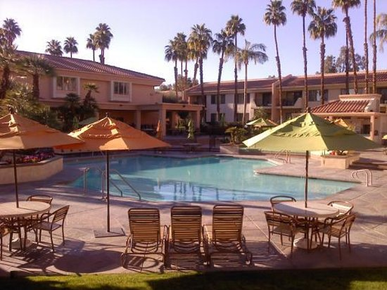 Welk Resorts Palm Springs:                   pool area and cabana